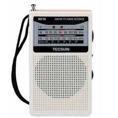 TECSUN R-218 Radio AM / FM / TV Pocket Radio R218 Radio Receiver Built-in batería Económica Speaker consumir