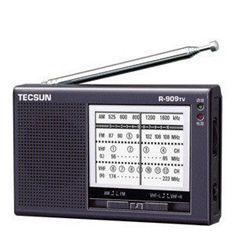 Nova Tecsun R-909TV AM / FM / TV radio son de alta calidade Radio Receiver