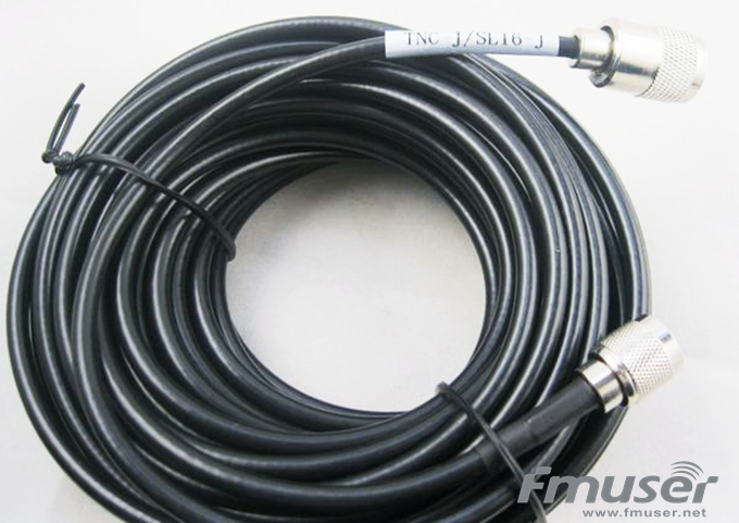 FMUSER SYV-50-3 RF Cable FM Antenna Feeder Cable 15 Meters