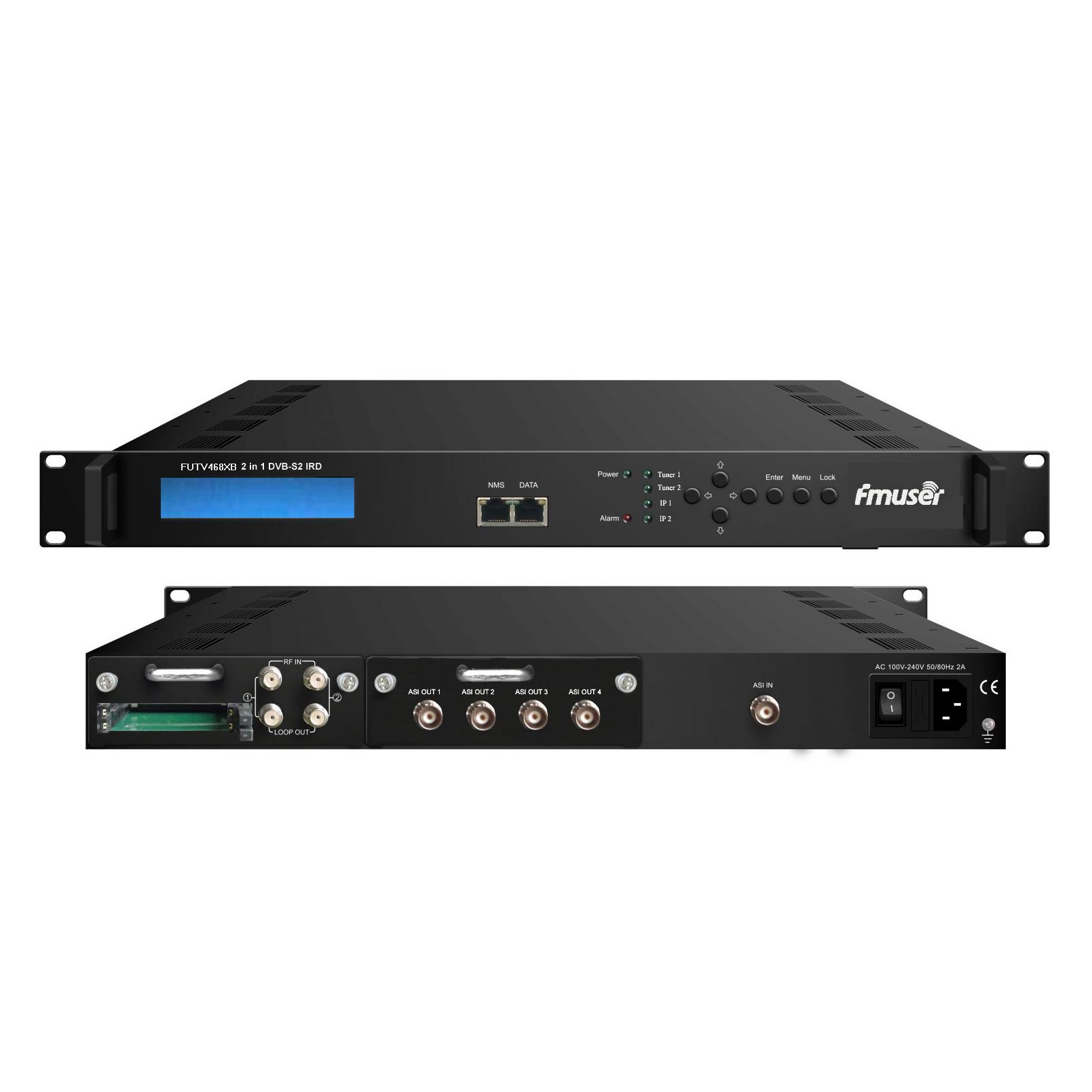 FMUSER FUTV468XB 2 Tuner CAM IRD(2 DVB-C / T / S / S2 RF输入,1 ASI 2 IP输入,4 ASI IP输出)