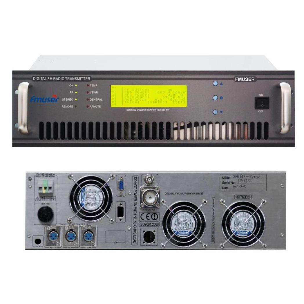 FMUSER FU618F-1000C Professional 1000watt 1kw FM Transmitter FM Broadcast Radio Transmitter untuk Stesen Radio FM