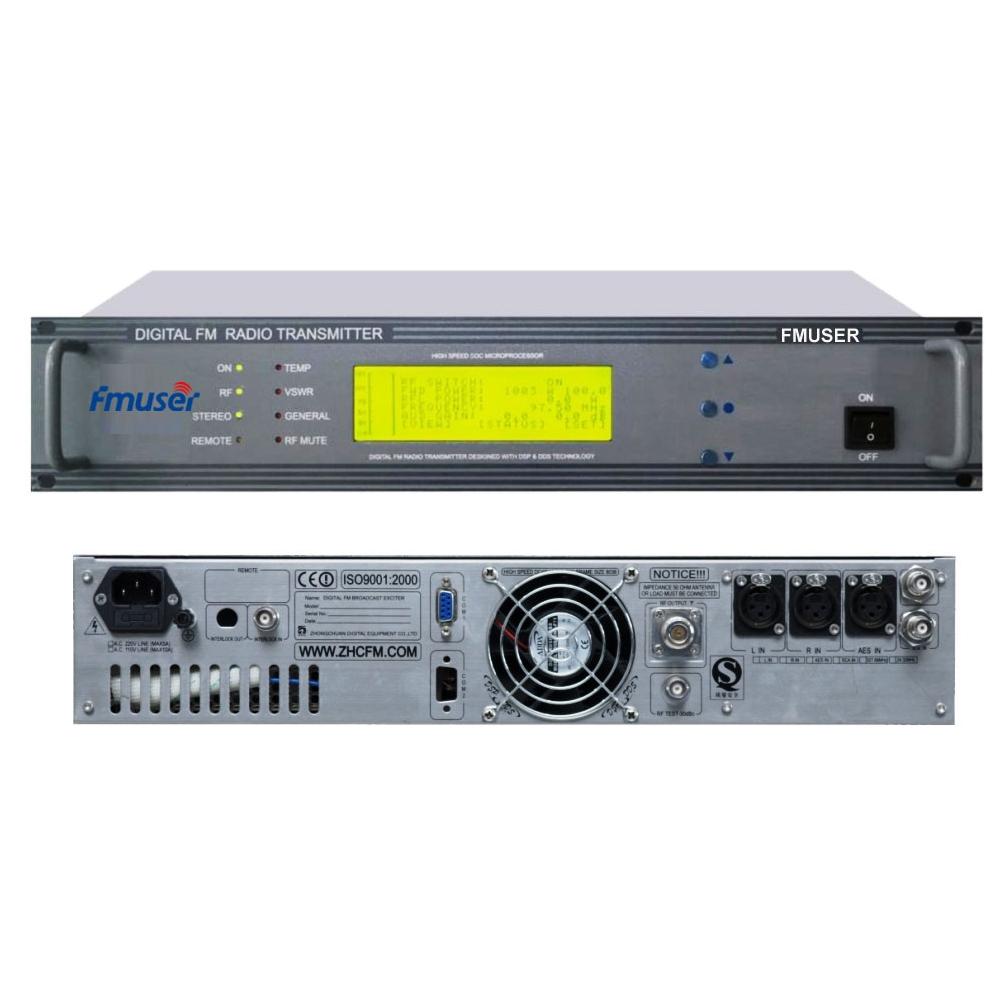 FMUSER FU618F-100C 100Watt 2U Transmissor de ràdio FM estèreo FM Transmissor de ràdio FM Exciter regulable per sativació per ràdio
