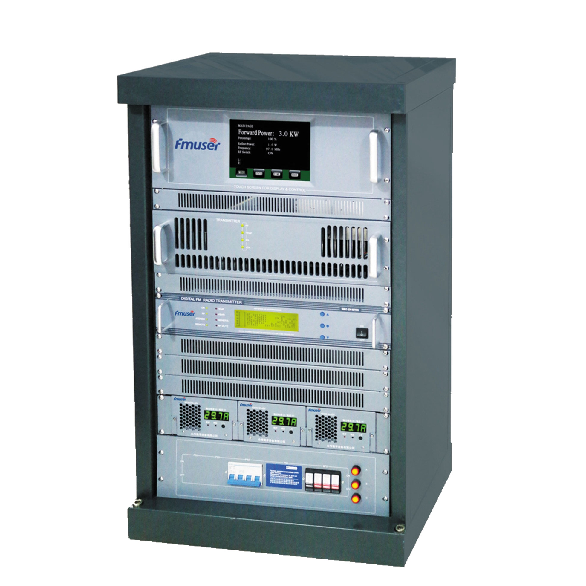 CZH618F-3kw 3000W 3KW Professional FM broadcast transmitter Rack Mount AES/EBU High Quality
