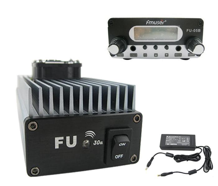 FMUSER FU-30A 30W FM 송신기 용 FM 전력 증폭기 세트, FM 여기기 및 전원 공급 장치 포함