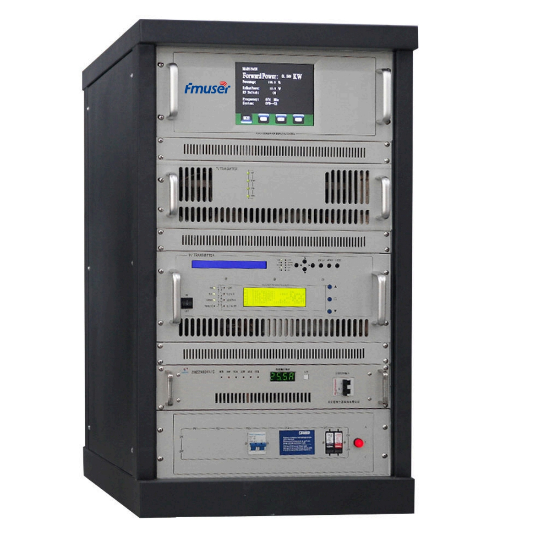 FMUSER CZH518D-500W 500watt Ψηφιακός τηλεοπτικός σταθμός ψηφιακής τηλεόρασης DVB-T Τηλεόραση Terrestre TNT (DVB-T / ATSC / ISDB-T) για επαγγελματικούς τηλεοπτικούς σταθμούς